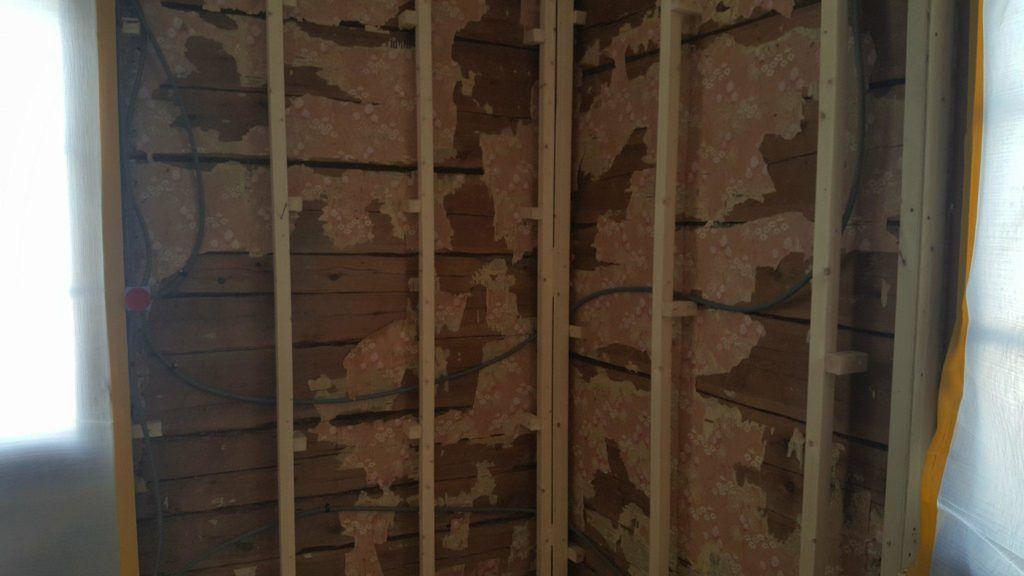 Limning av vägg före