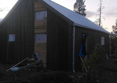 Isolering snedtak och vägg i Arjeplog 4