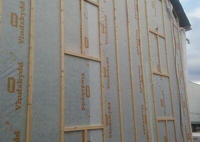 Isolering utsida vägg timmerhus Boden 2
