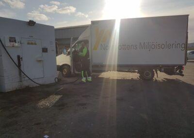 Isolering av öppet vindsbjälklag i Kiruna 2