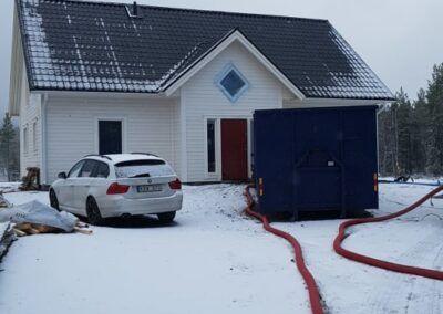 Isolering från Gällivare till Piteå i veckan 2
