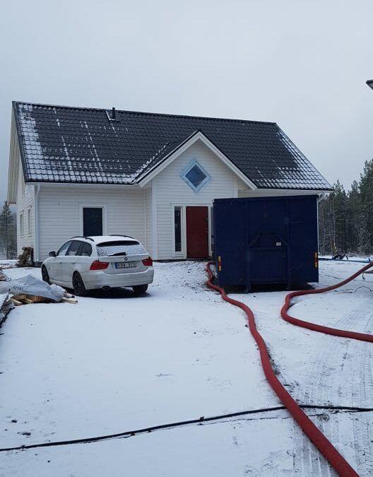 Isolering från Gällivare till Piteå i veckan